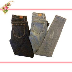 💚X2 Low Rise Skinny Denim Blue Jeans BDG Paige 23
